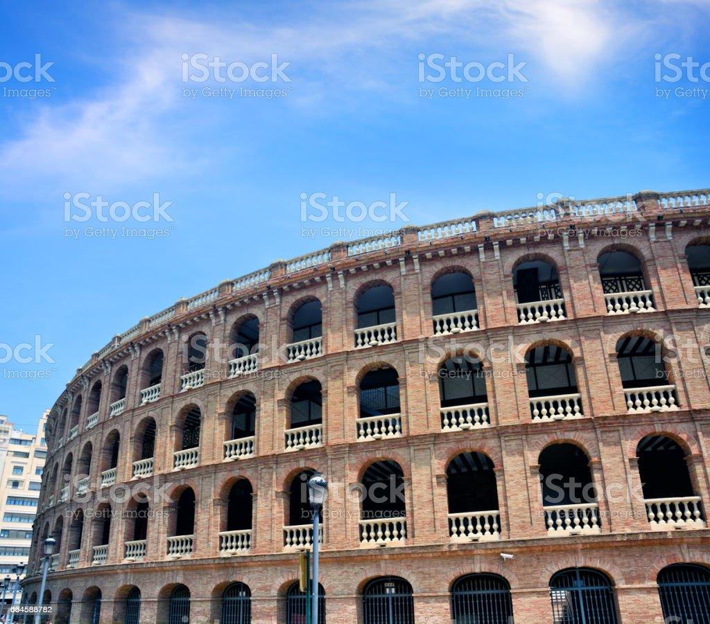 Bullfighting arena, Valencia stock photo