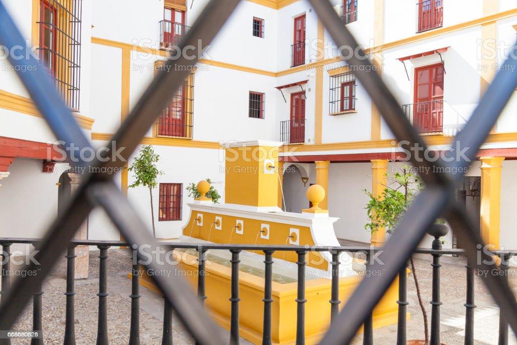 Bullring area in Seville stock photo