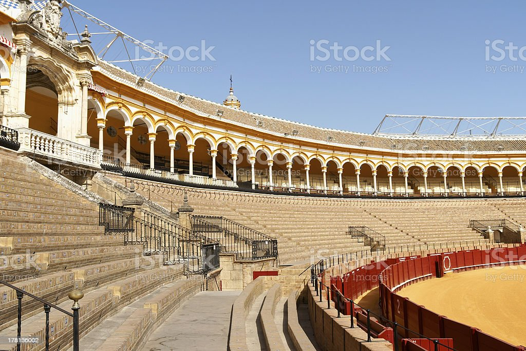 Plaza de Toros in Seville, Spain royalty-free stock photo