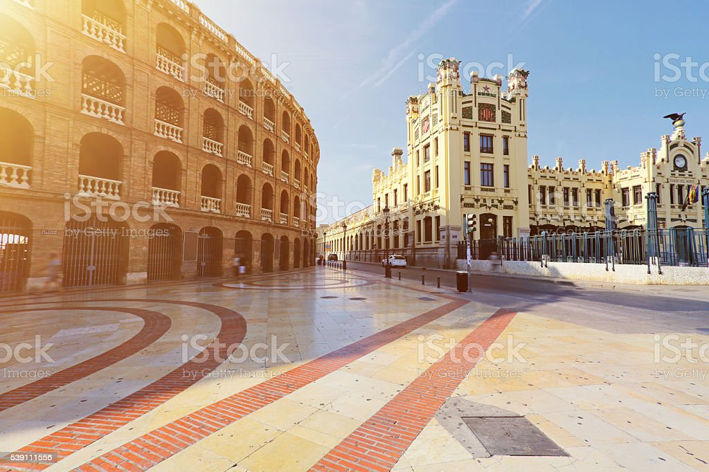 Plaza de Toros in Valencia stock photo