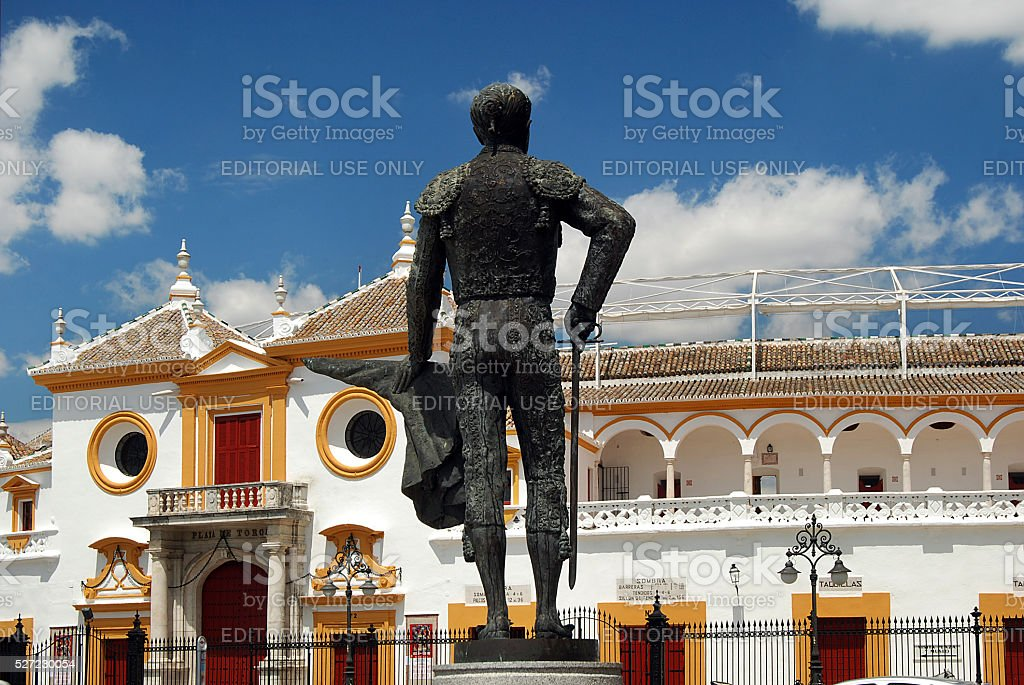 Plaza de toros, Sevilla, Spain stock photo