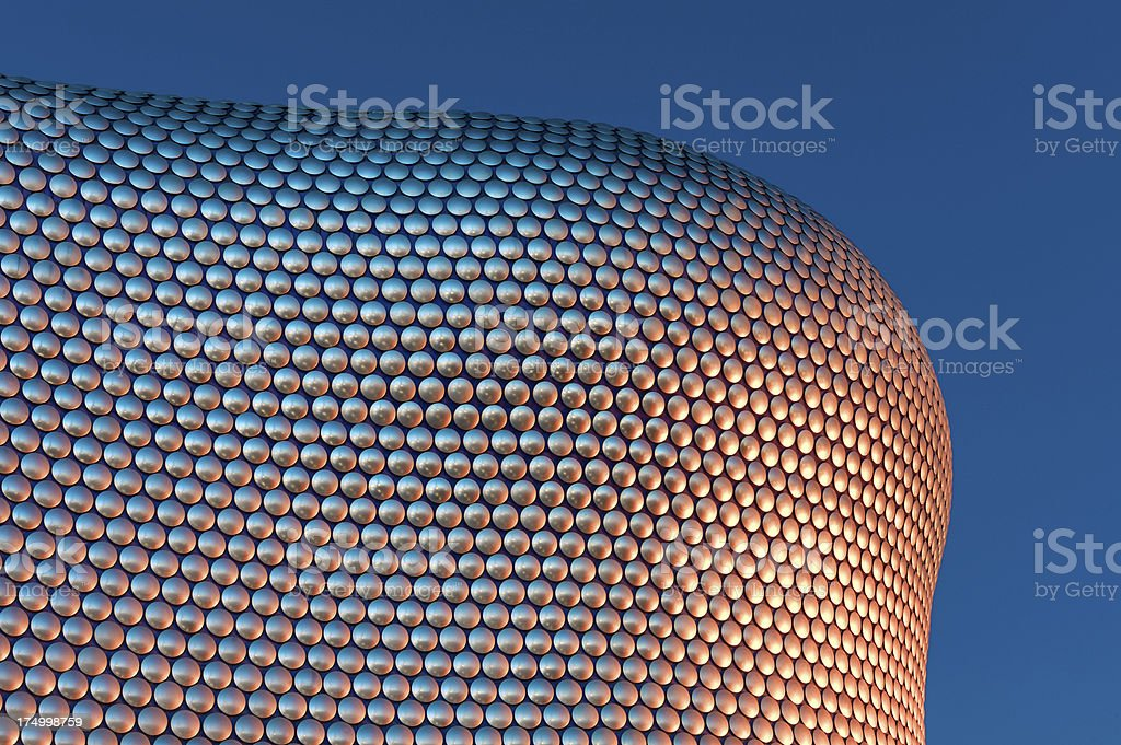 Bullring shopping center at night, Birmingham, UK stock photo