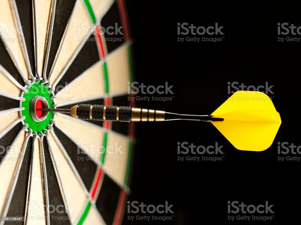 Bulls Eye in a Game of Darts stock photo
