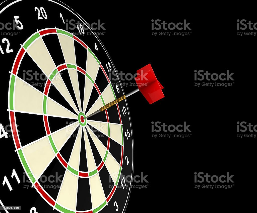 Bull's Eye isolated - Black BG royalty-free stock photo