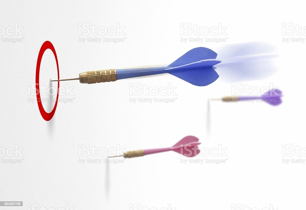 bull's eye - marketing in action, to reach objectives royalty-free stock photo