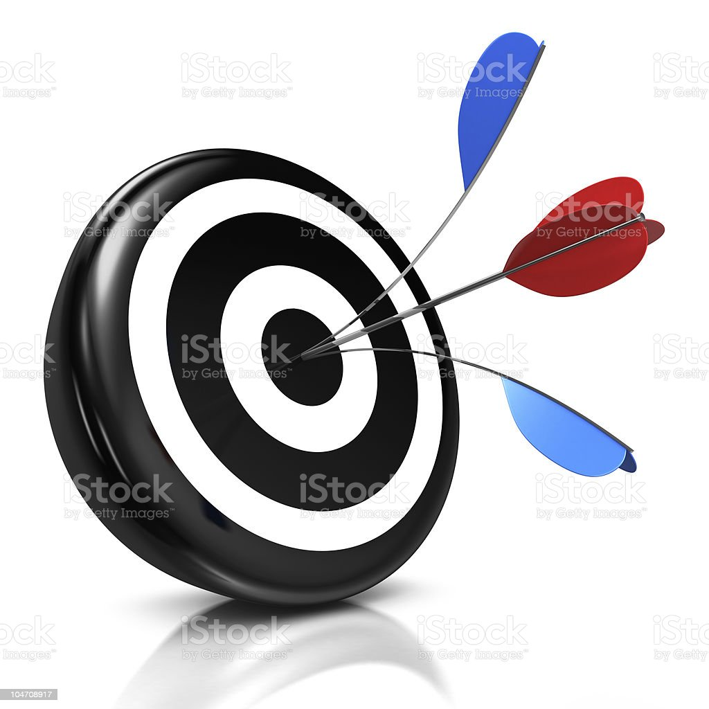 bull's eye royalty-free stock photo
