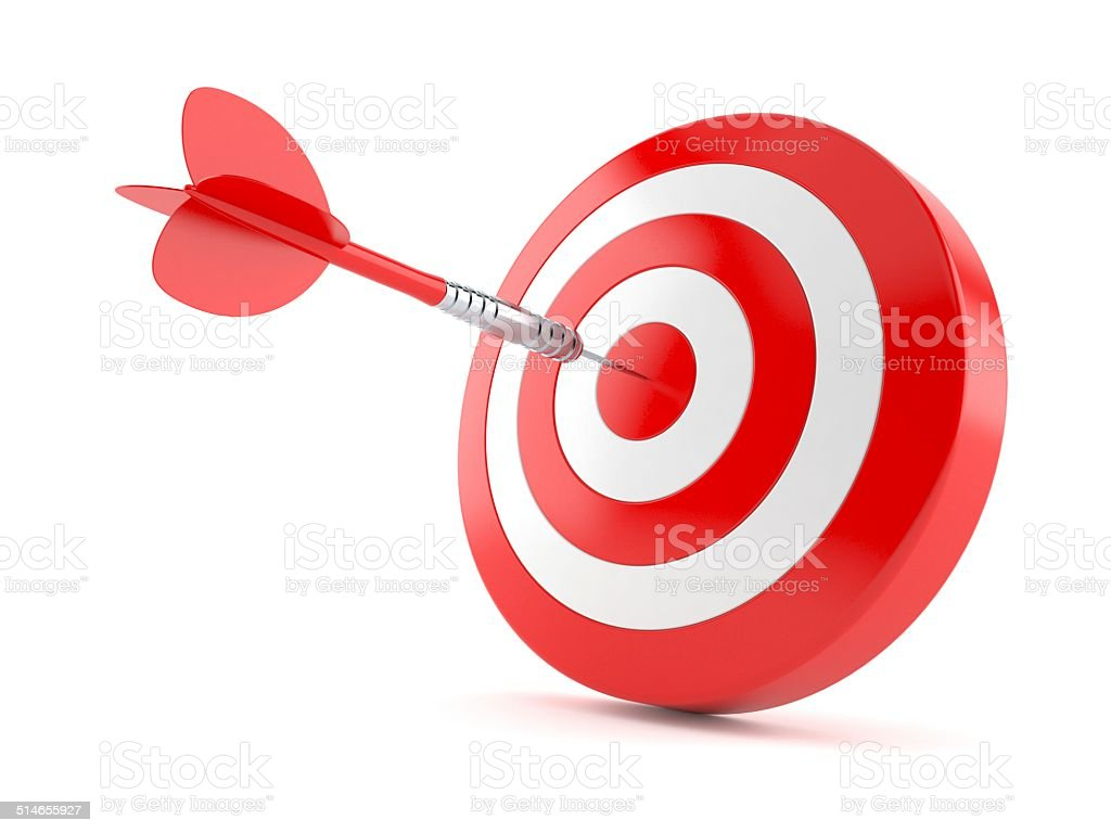 Bull's eye stock photo