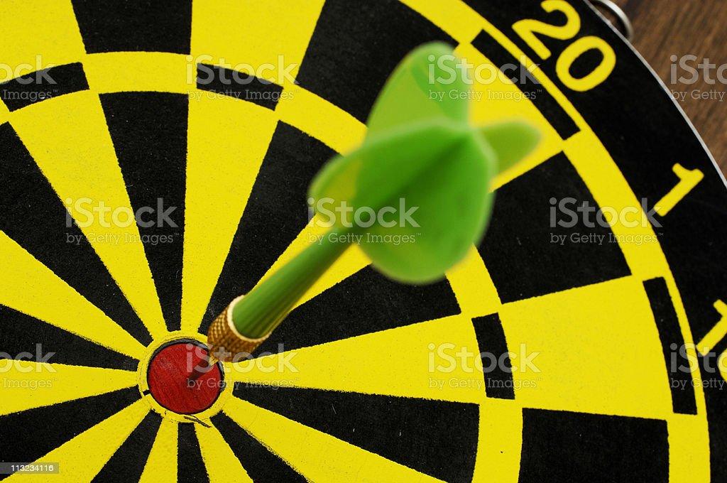 Bulls eye, target hit royalty-free stock photo