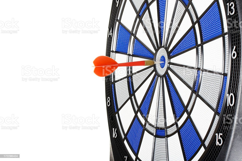 Bull's eye-business concept royalty-free stock photo