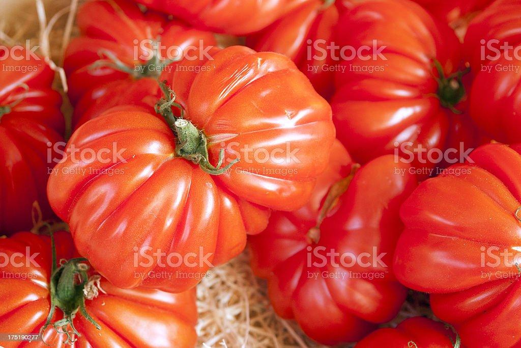 Bull's Heart Tomatoes, an Heirloom variety royalty-free stock photo