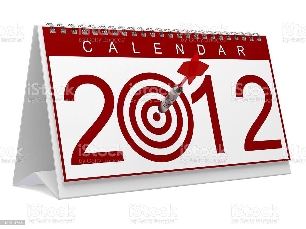 Bullseye 2012 stock photo