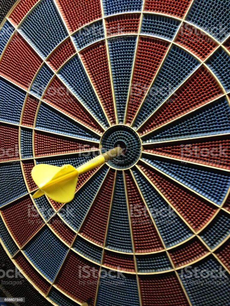 Bullseye darts stock photo