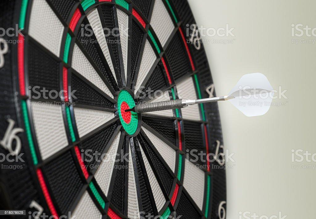 Bullseye electronic Dartboard stock photo