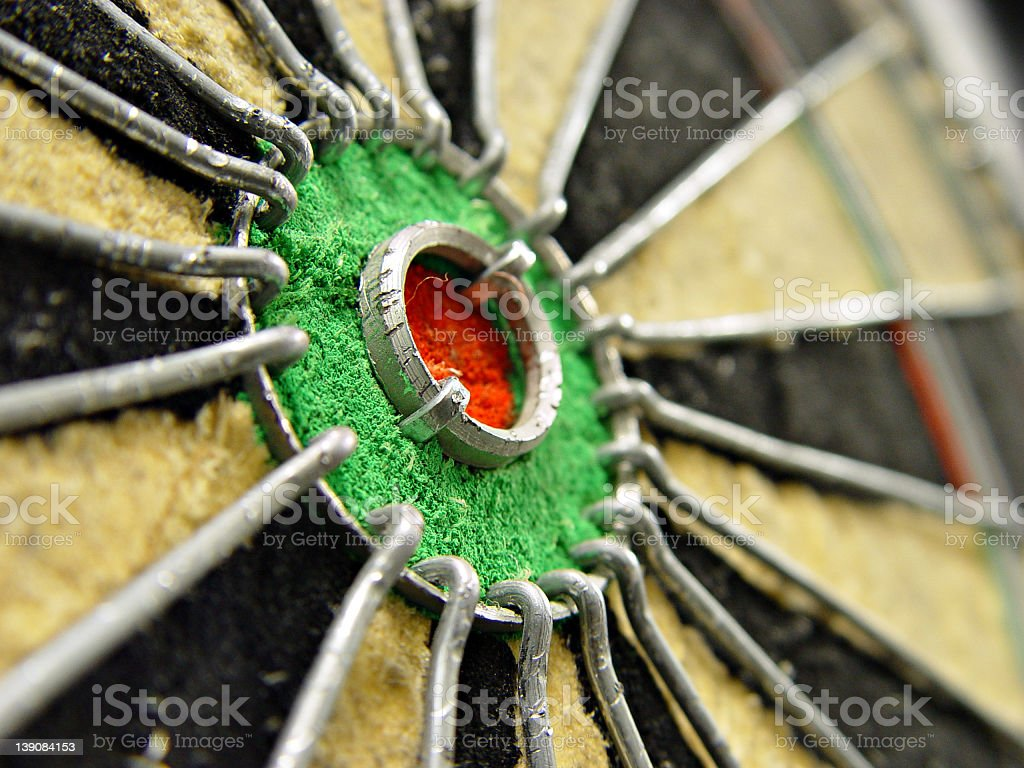 Bull's-eye of target stock photo