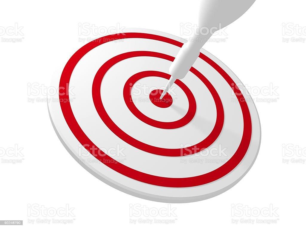 Bullseye - Right on Target royalty-free stock vector art