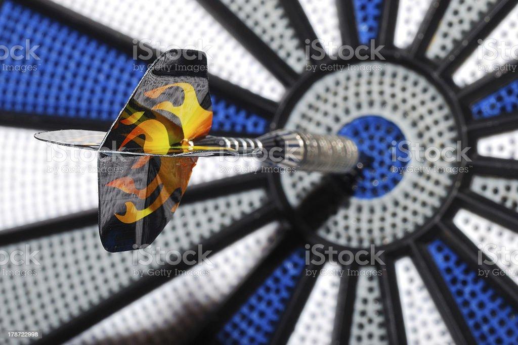 bullseye with arrow great view royalty-free stock photo