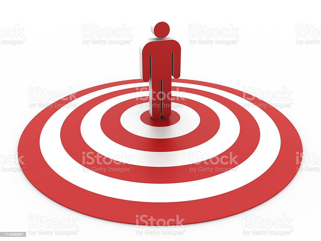 Bull's-Eye with People royalty-free stock photo