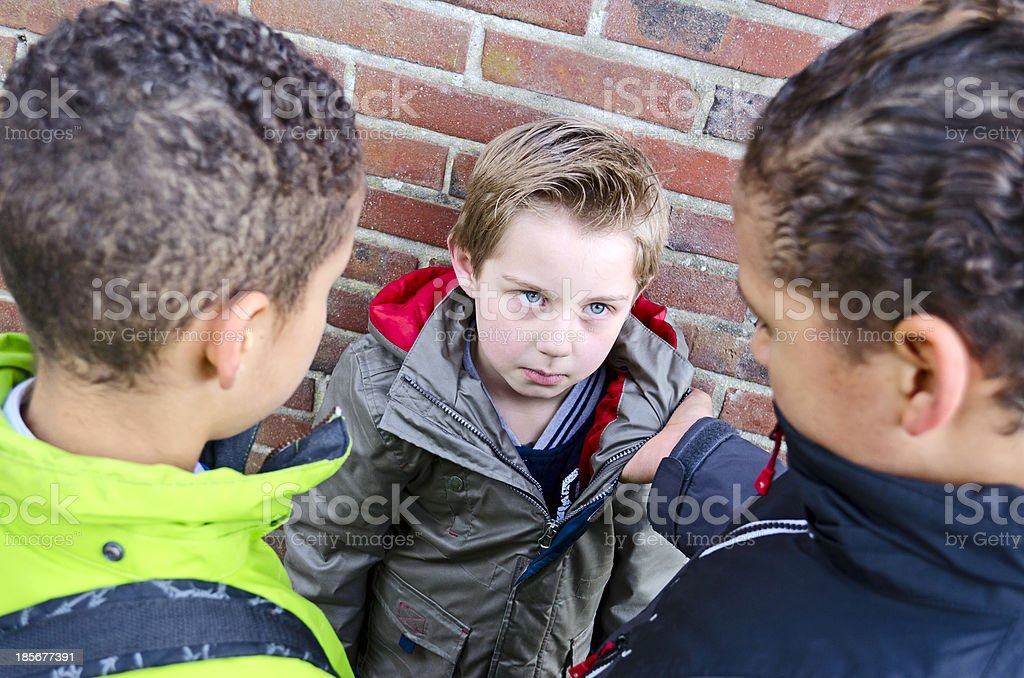 Bully boys stock photo