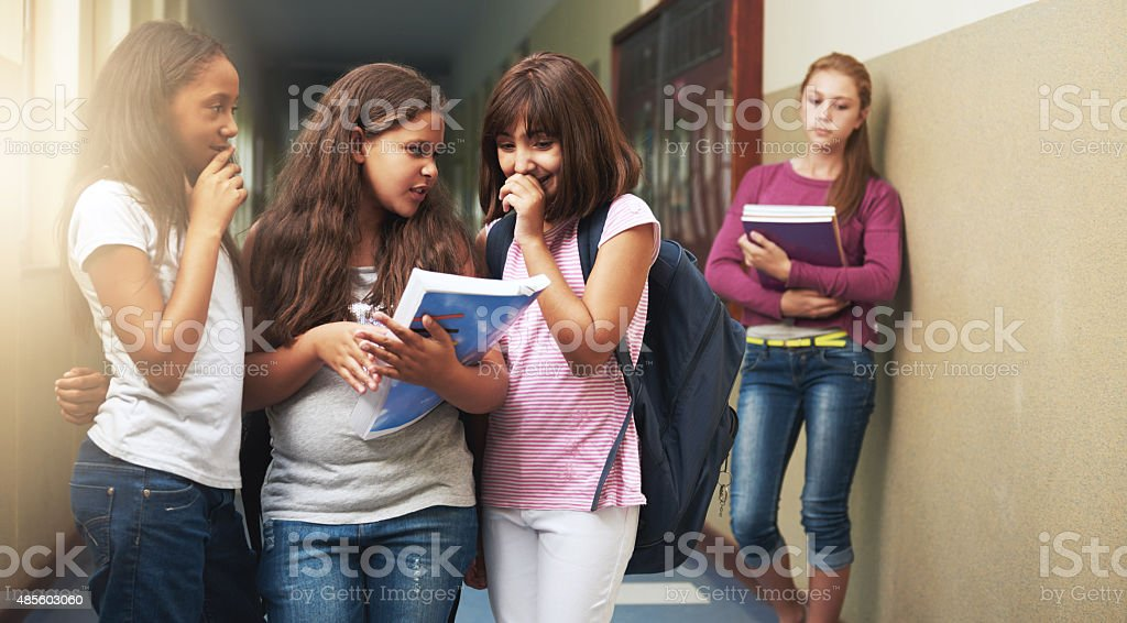 Bullying hurts stock photo