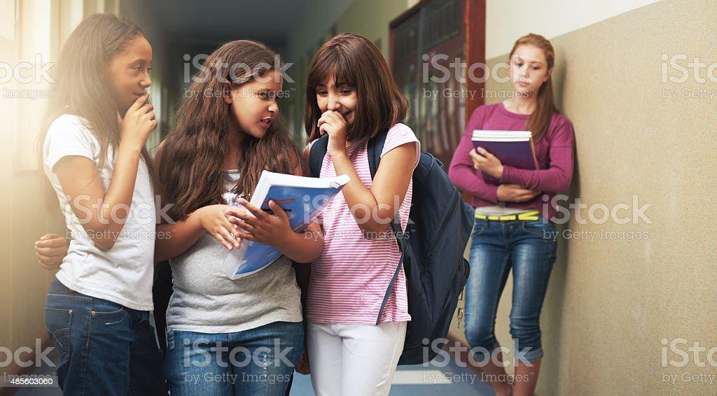 Bullying hurts stock photo