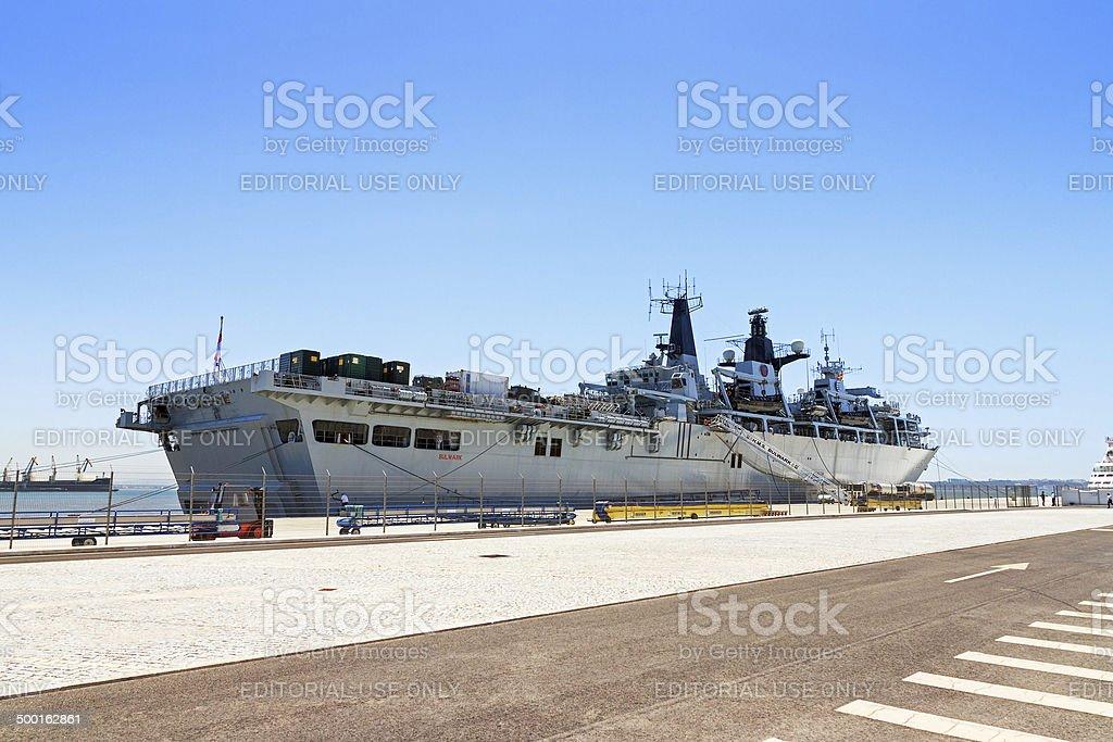 HMS Bulwark stock photo