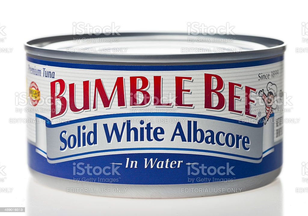 Bumble Bee Tuna Can stock photo