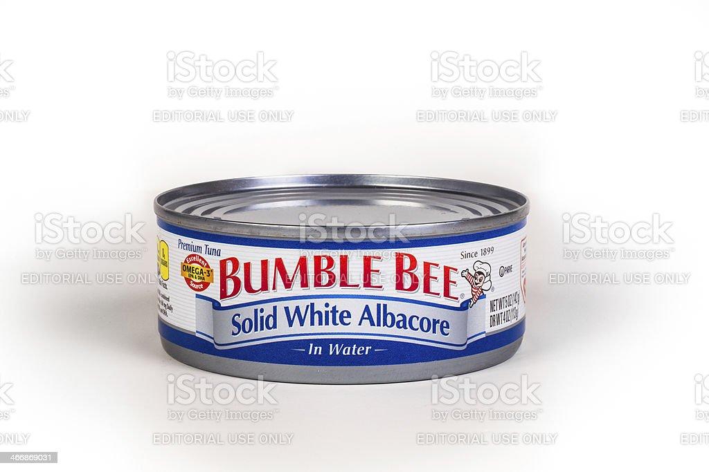 Bumble Bee Tuna Can stock photo