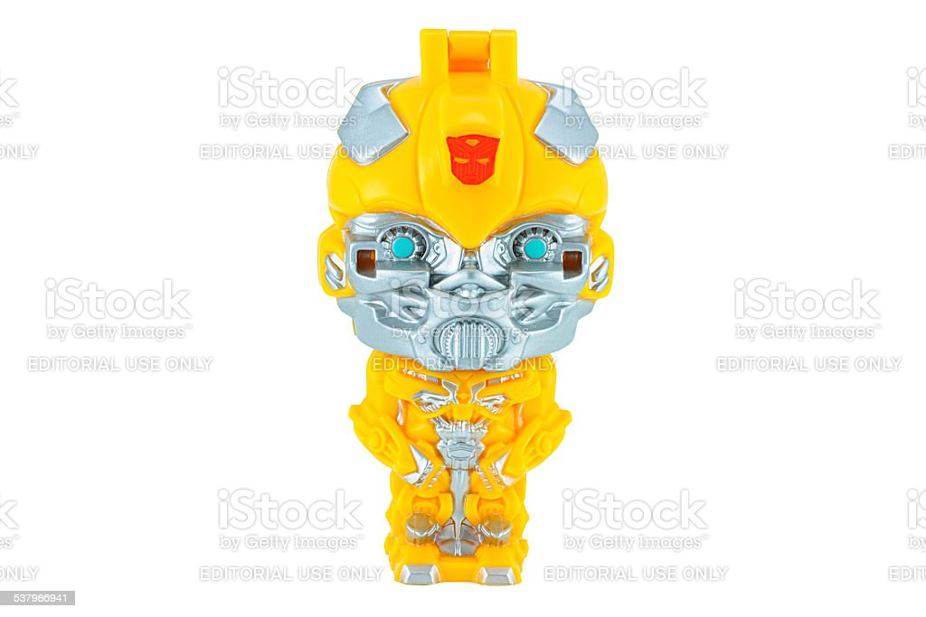 Bumblebee toy character from TRANSFORMERS Movie series. stock photo