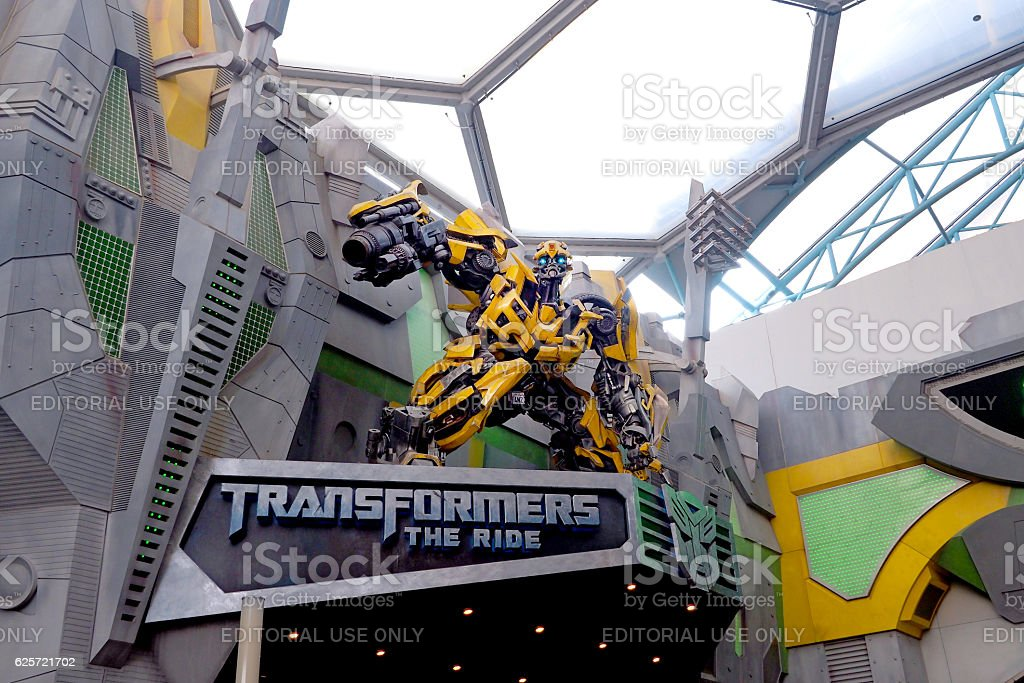 Bumblebee Transformers stock photo