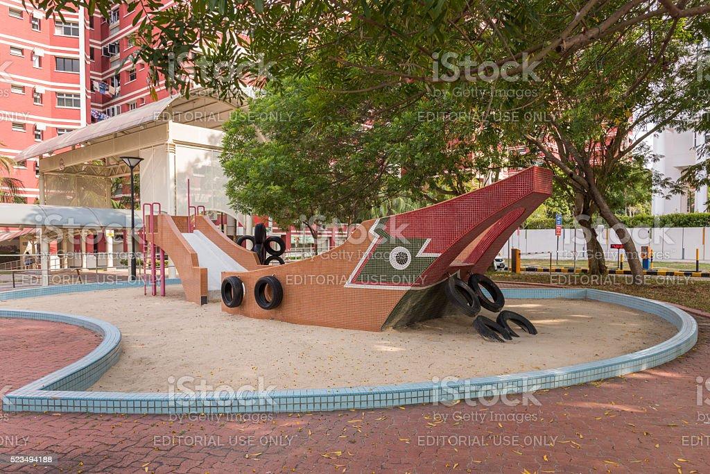 Bumboat playground stock photo