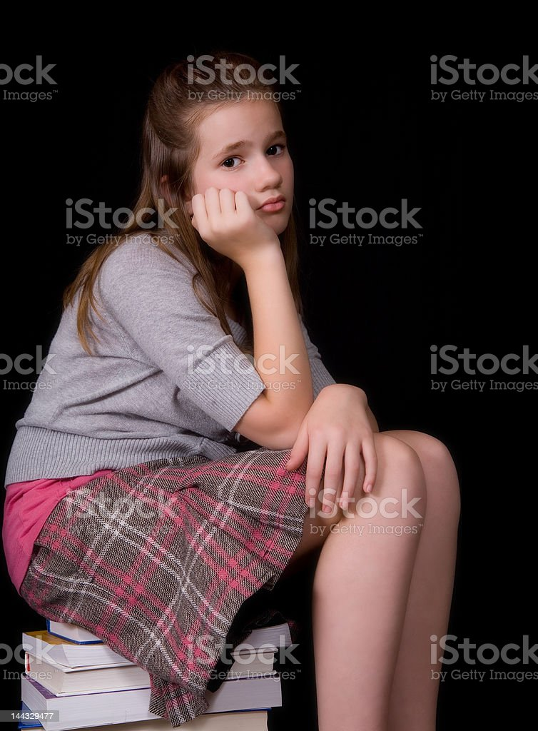 Bummed with Schoolwork royalty-free stock photo