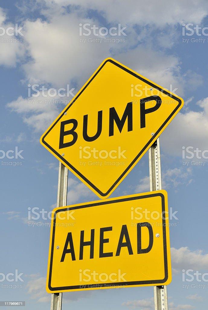 Bump Ahead Sign royalty-free stock photo