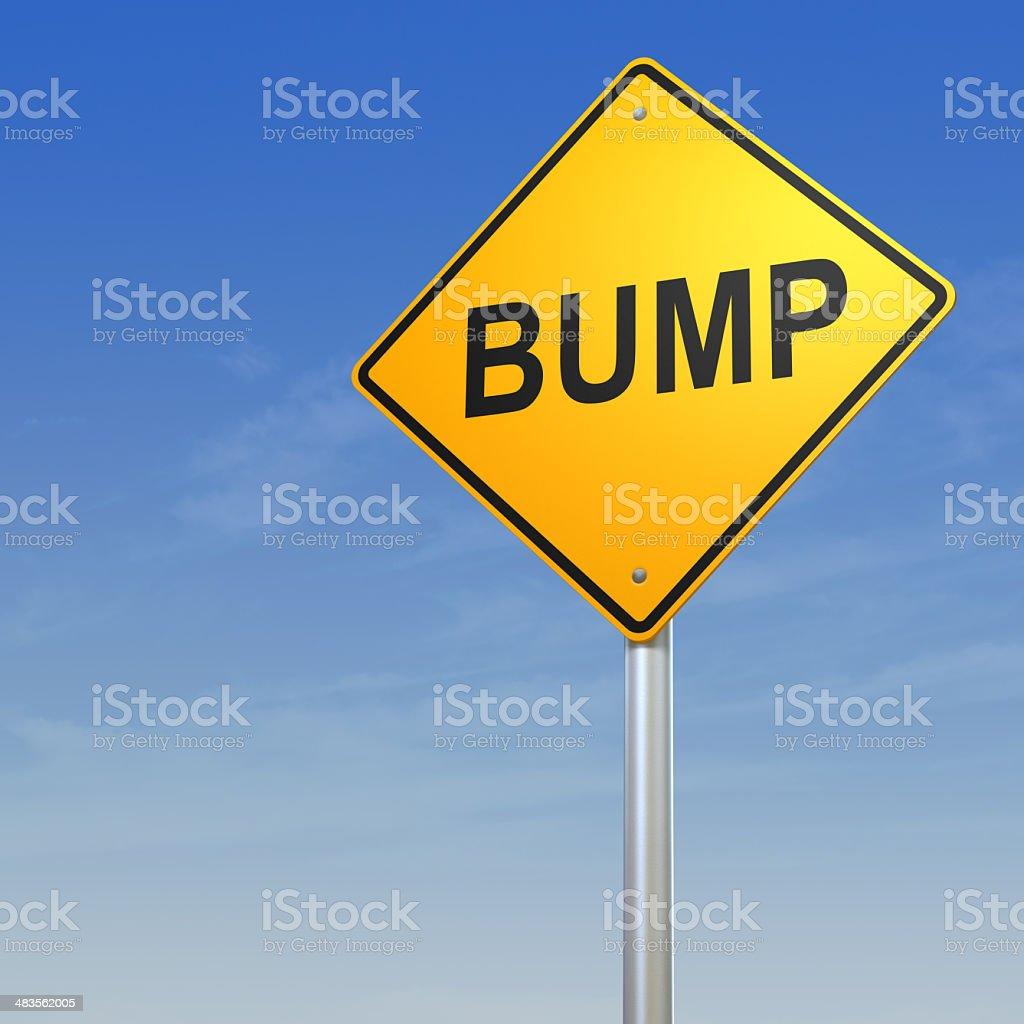 Bump Road Warning Sign stock photo