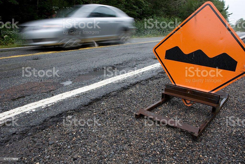 Bump sign stock photo