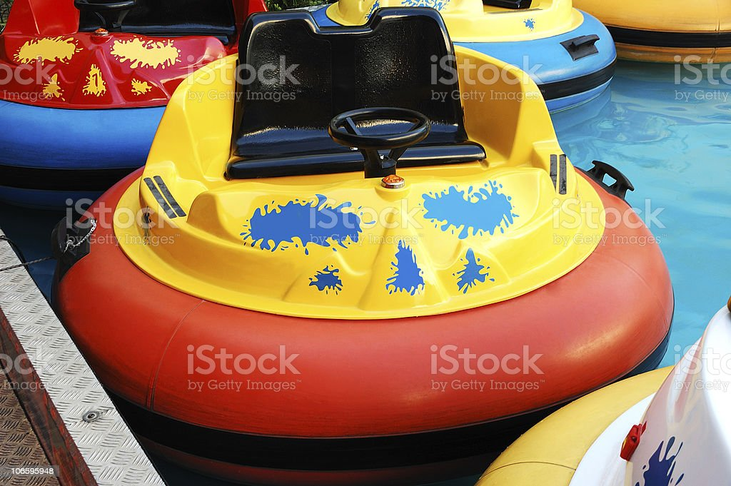 Bumper Boats stock photo