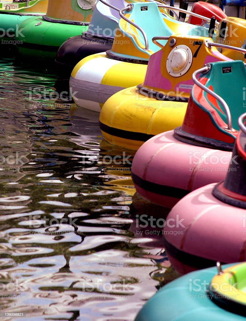 Bumper Boats royalty-free stock photo