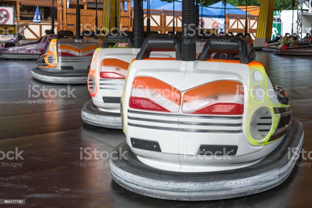 Bumper car  at a folk festival stock photo