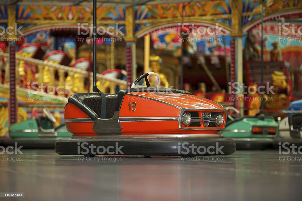 Bumper cars at the state fair  stock photo