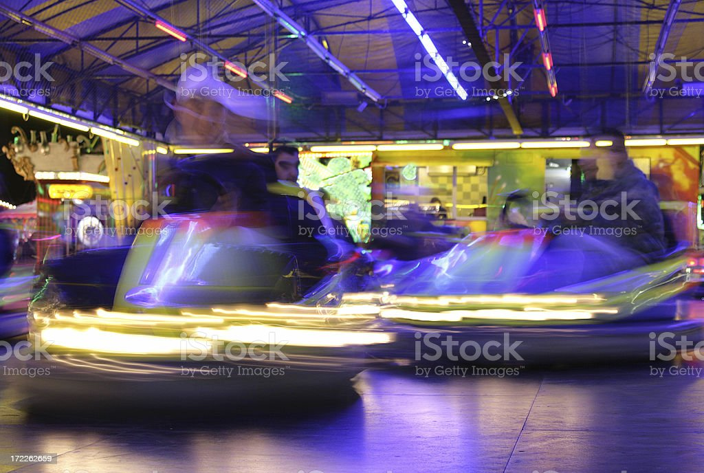 Bumper Cars in Action 2 stock photo