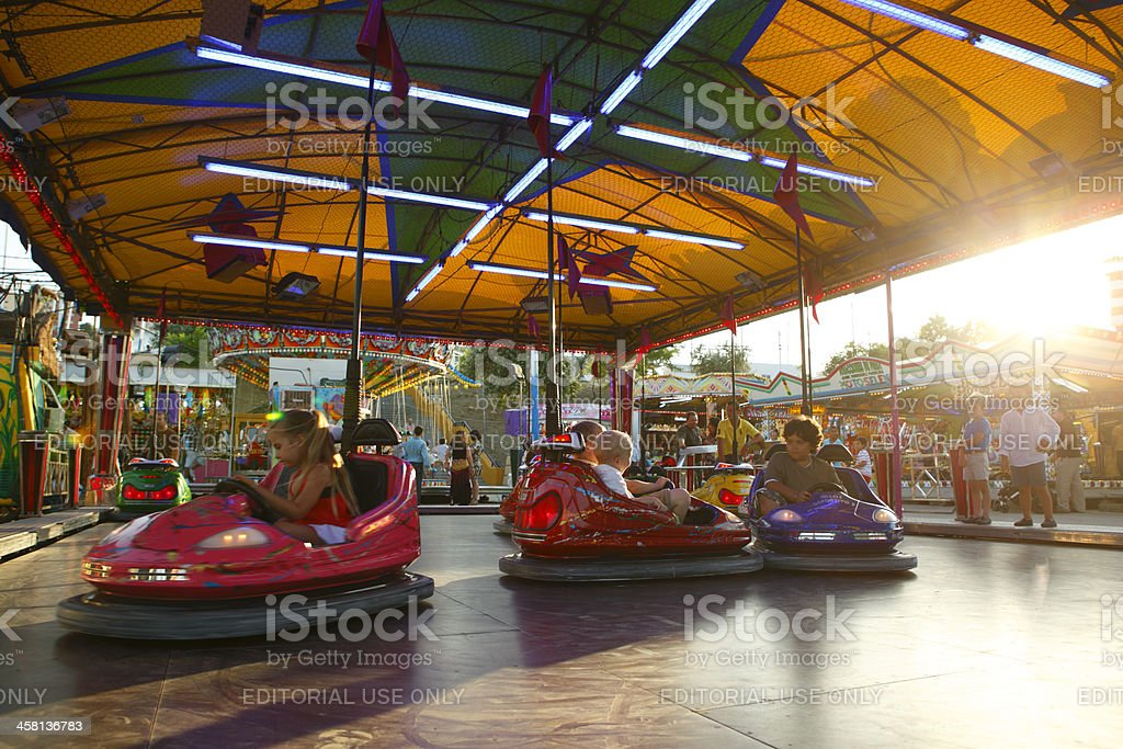 Bumper Cars in Andalusian Fair stock photo