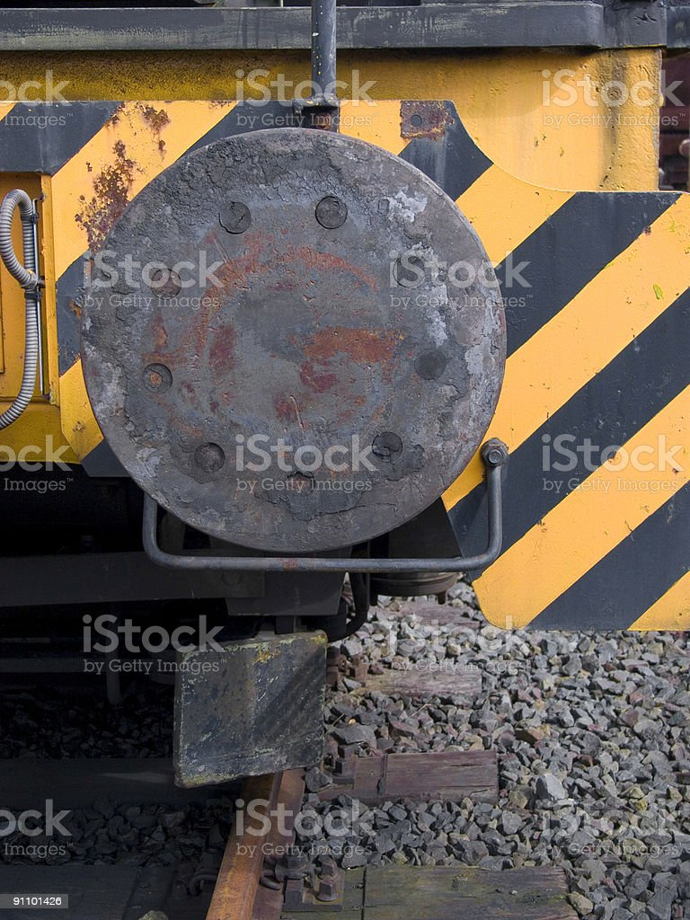 Bumper of a Train royalty-free stock photo