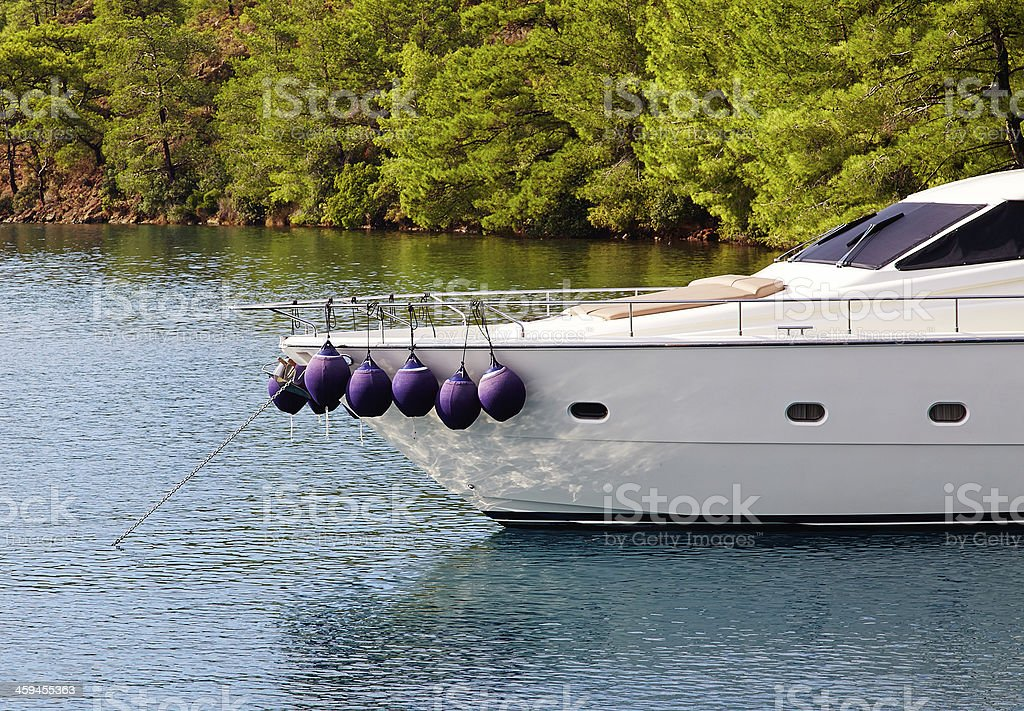 Bumper on motorboat royalty-free stock photo