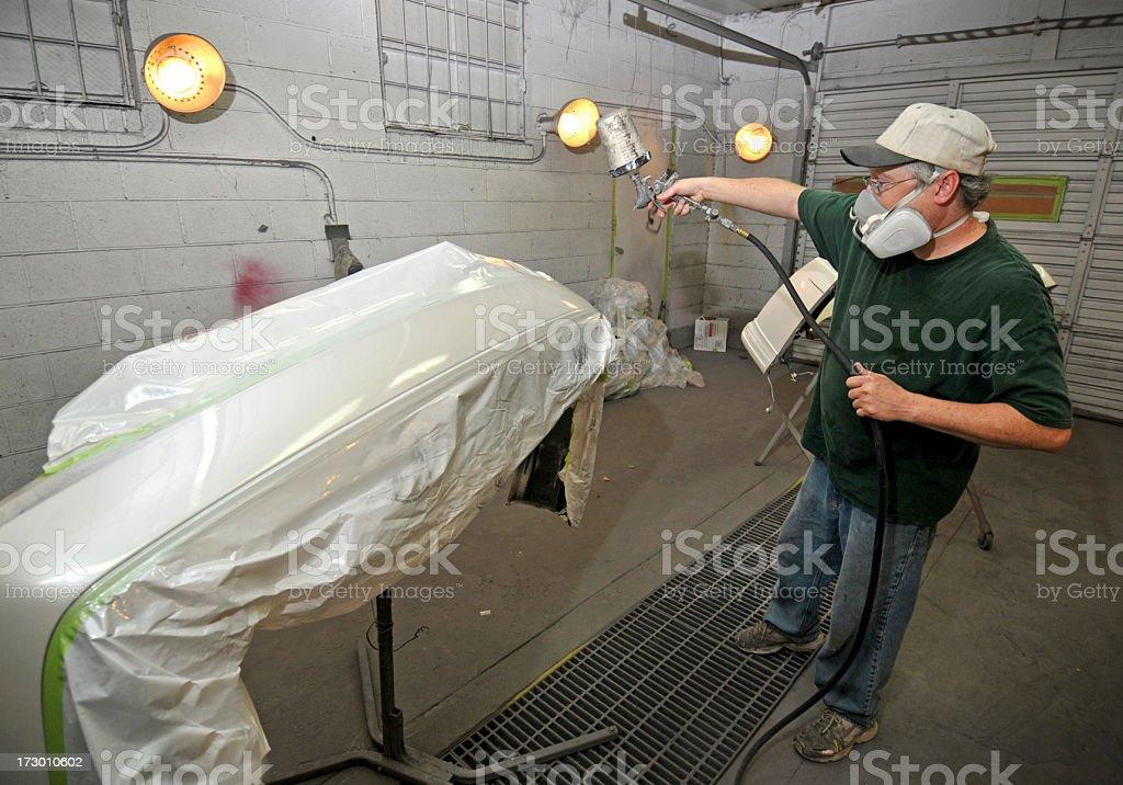Bumper Painter royalty-free stock photo