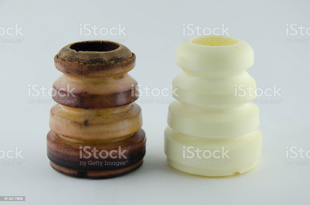 bumper rubber bushing absorber front stock photo