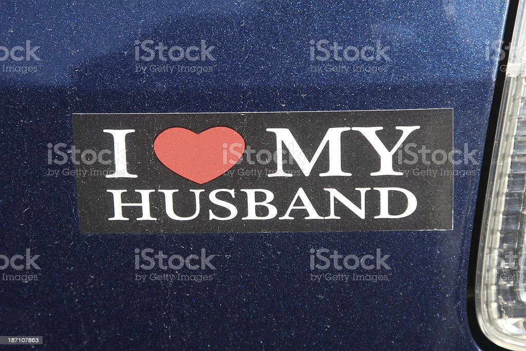 Bumper Sticker stock photo
