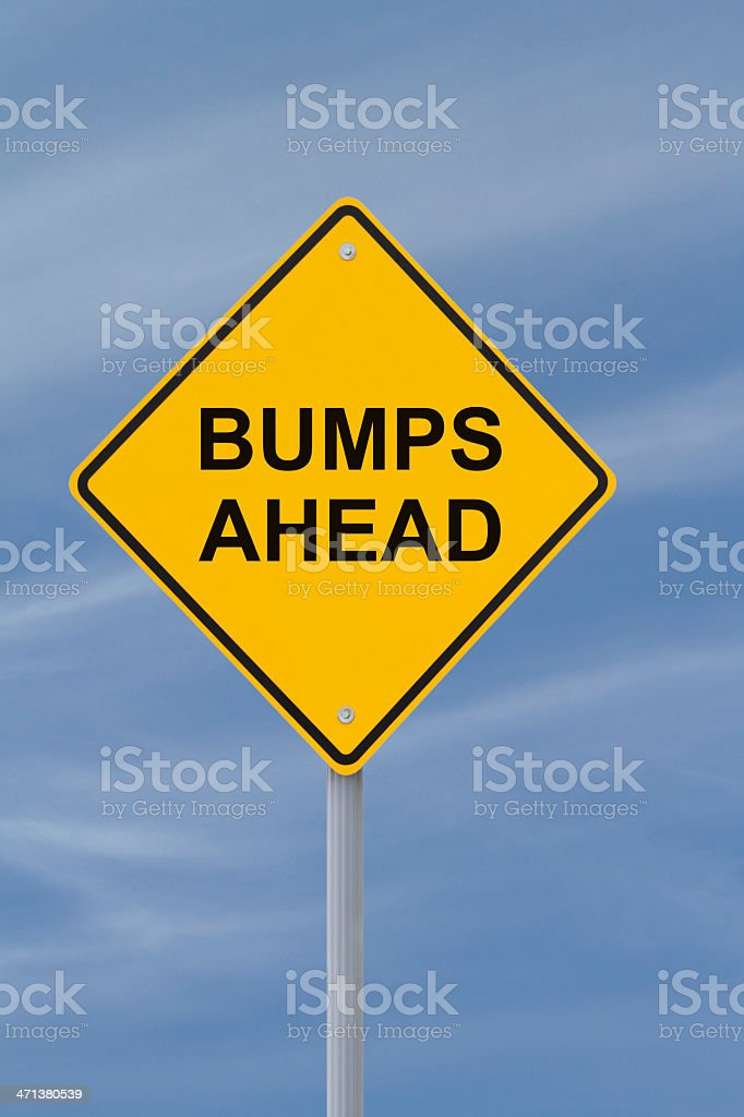 Bumps Ahead stock photo