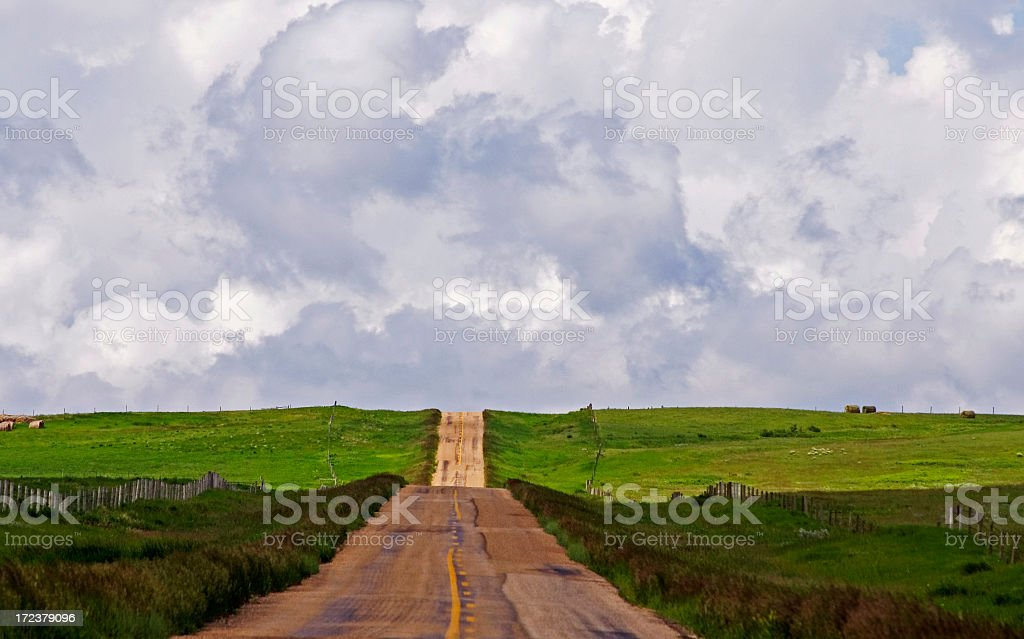 Bumpy Country Road royalty-free stock photo