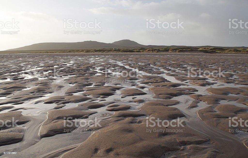 bumpy ebb tide scenery stock photo