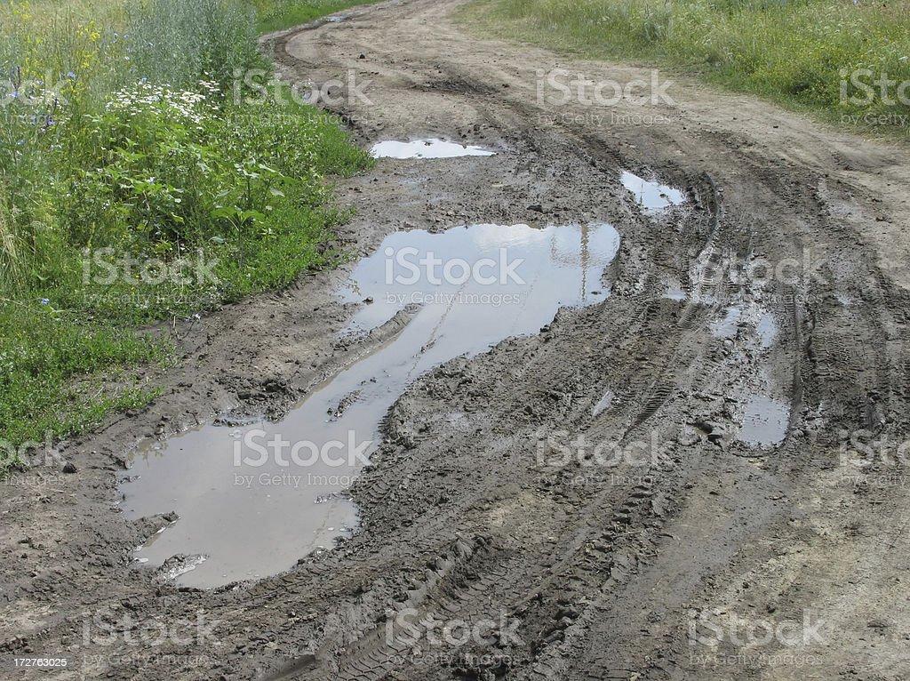bumpy road royalty-free stock photo