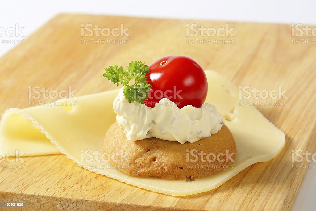 bun with herb butter royalty-free stock photo